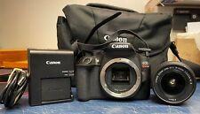 CANON REBEL T6 18.0MP DIGITAL SLR DSLR CAMERA W/ EXTRAS - 321 SHUTTER COUNT!!!