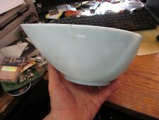 "Fire King Swedish Modern Turquoise Blue Teardrop 7.5"" Mixing Bowl"
