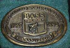 1967-1992 Bass Anglers Sportsman Society 25th Anniversary Belt Buckle