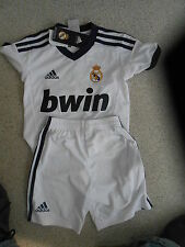 ADIDAS REAL MADRID BOYS 1-2 YEARS HOME SHIRT/SHORTS (NEW WITH TAGS)