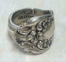 Spoon Ring ~ Size 11~ 5-A1061 Chateau Rose Sterling Silver Handcrafted Textured