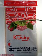 Kirby Genuine Heritage Vacuum Cleaner Sweeper Bags Style 2 bags one Pack of 3