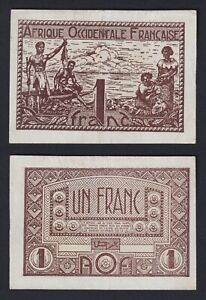 Africa Occidentale Francese - 1 franc 1944 SPL-/XF-  B-09