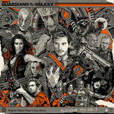 SOLD OUT Tyler Stout - Guardians of the Galaxy OST LP - Groot Handbill - Mondo