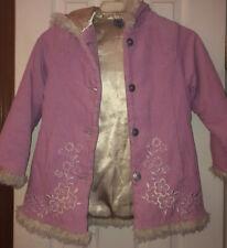 Super Cute Euc Girls Pink Coat With Flower Print By Pumpkin Patch Sz 7