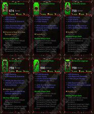 Diablo 3 Ros Xbox One [softcore] Completo Primal Mono Reyes Garb sunwuko monje Set
