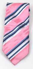 Designerkrawatte rosa weiß blau gestreift   Versandkostenfrei NEU