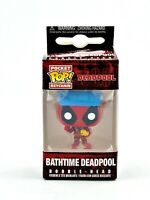 FUNKO POCKET POP! KEYCHAIN: MARVEL - BATHTIME DEADPOOL *RARE UK STOCK*