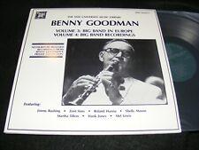 BENNY GOODMAN Rarities 2 Lp gatefold MHS Yale Library Wurope Big Band ZOOT SIMS