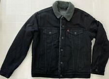 Levis Trucker Jacket with Sherpa Lining 16365-0054 ALL BLACK