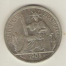 1 Piastre de commerce Indochine 1905 en argent
