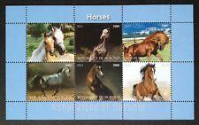 Pferde / Horses Animals Tiere Burundi 2011 MNH Kleinbogen Sheet postfr.