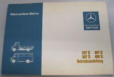 Original Betriebsanleitung Mercedes-Benz Bus/Transporter 207D/307D/407D/409D