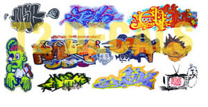 N Scale Custom Graffiti Decals #27 - Weather Your Box Cars, Hoppers, & Gondolas!