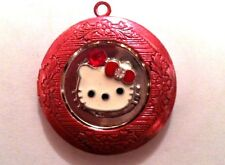 HELLO KITTY Photo LOCKET Pendant comes on 925 Sterling Silver Chain Necklace