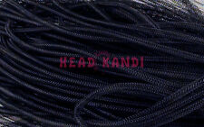 Tiny Non Metallic Black Cyberlox Tubular Crin Mesh Tubing 10 yards 1/8""