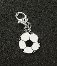 Dangle Charm Soccer Ball Silver Plated Lobster Claw For Bracelets Free Shipping