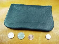 Large Black Bison Buffalo Leather coinpurse pouch hand crafted disabled vet 5046