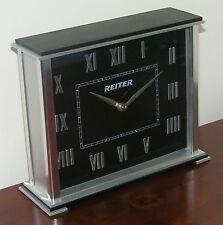 Table Clock Classic - Metal - Modern Aluminium Mantle - Rectangular Silver  CL62
