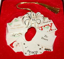 Lenox Our Home to Tours Ceramic Holiday Wreath Ornament  $43 New