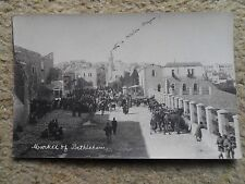 VINTAGE.REAL PHOTO POSTCARD.  MARKET OF BETHLEHEM.   WRITTEN NOT POSTED.