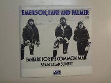 "EMERSON, LAKE & PALMER:Fanfare ForThe CommonMan-Brain Salad Surgery-France 7""PSL"