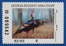 U.S. (GAM14) 1992 Georgia Wildlife Management Area Stamp (MNH)