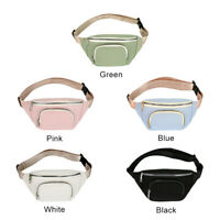 Waist Bag Women Canvas Leisure Bum Fanny Pack Big Capacity Chest Crossbody Pouch