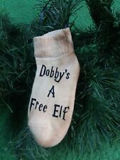 Christmas Ornament. Harry Potter Dobby Sock. Dobby Is A Free Elf.