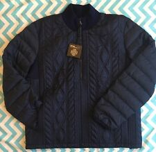 RALPH LAUREN RLX New $395 French Navy Blue Quilted Down Feather Jacket XL Fall 2