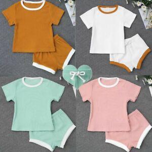 Baby Girls Clothes Outfit T-shirt Tops Shorts Bottoms Set Newborn Summer Toddler