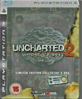 PS3 - Uncharted 2 - Among Thieves - Metal Box - RARE - 2009