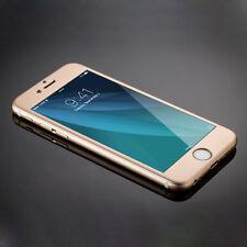 Apple iPhone 6 plus 6s plus Cover Alu/Titan Panzerglas vorne hinten Gold
