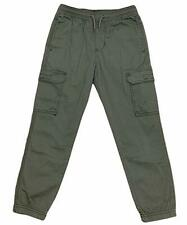 UNIONBAY Youth Cargo Stretch Pant, X-Small - 5/6, Military - NEW