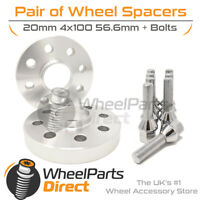 Wheel Spacers & Bolts 20mm for Opel Calibra (4 Stud) 89-97 On Original Wheels