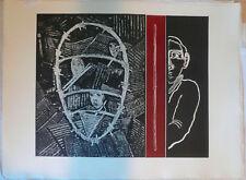 Martinez Juan (Jaén,1942)-Testa nel filo spinato,1989-Acquaforte- Ed.Grafica Uno