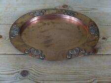 More details for art nouveau copper tray circa 1900
