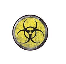 Radiation Hazard Circle Decal Zombie Funny Sticker Car Truck Bumper Jeep 3M Joke