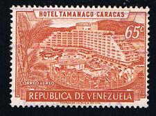 VENEZUELA 1 FRANCOBOLLO HOTEL TAMANACO CARACAS BOLIVAR CORREO AEREO 1958 usato