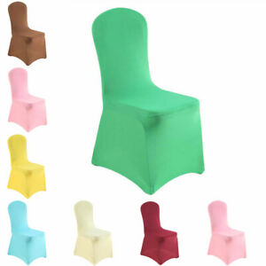 20 Colors Elastic Chair Cover Home Wedding Banquet Party Slipcovers Decorations