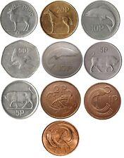 IRELAND IRISH DECIMAL COIN COLLECTION  ONE PUNT TO HALF PUNT ( £1 TO 1/2P