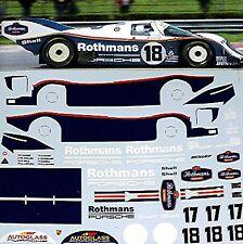 Porsche 962C LeMans 1987 Stuck Bell #17 + Mass Wollek #18 1:24 Decal Abziehbilde