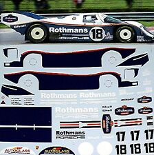 Porsche 962C LeMans 1987 Pièce cloche #17 + Dimensions Wollek #18 1:24 sticket