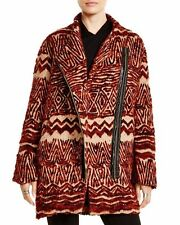 Free People NEW Asymmetric Tribal Textured Coat Oversized Size Small