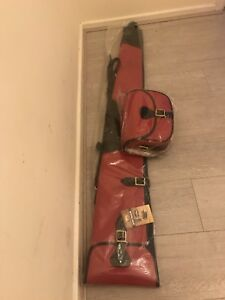 New Pink Leather Gun Case/Slip With Matching Cartridge Bag for Short Gun
