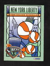 New York Liberty--1998 Pocket Schedule--Nike--WNBA