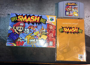Super Smash Bros. (Nintendo 64, 1999) N64 Complete In Box W/ Manual Authentic