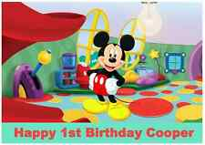 Personalised A4 Mickey Mouse Edible Wafer Paper Cake Topper