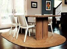 Rug Natural Jute Floor Handmade Oval 3x5 Feet Area Carpet Modern Reversible Rug