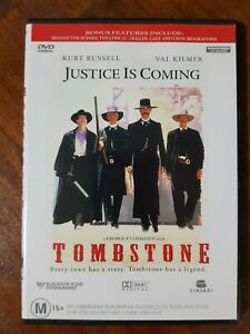 Tombstone (Kurt Russell Val Kilmer) (Australia Region 4) DVD - Good Condition